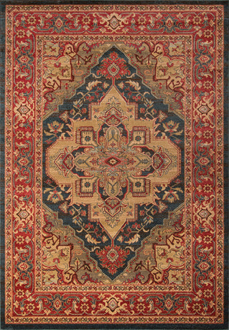 Momeni GHAZNGZ-05NVY7A9A Turkish Machine Made Ghazni Collection Navy Finish Rugs