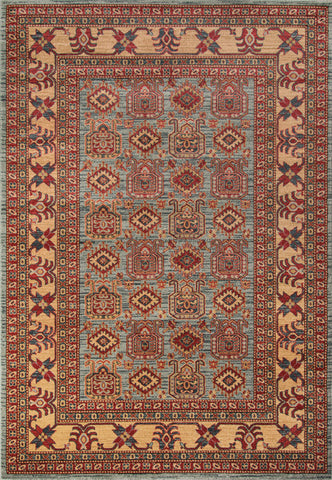Momeni GHAZNGZ-06LBL93C6 Turkish Machine Made Ghazni Collection L.Blue Finish Rugs