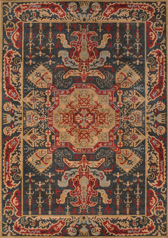 Momeni GHAZNGZ-08NVY93C6 Turkish Machine Made Ghazni Collection Navy Finish Rugs
