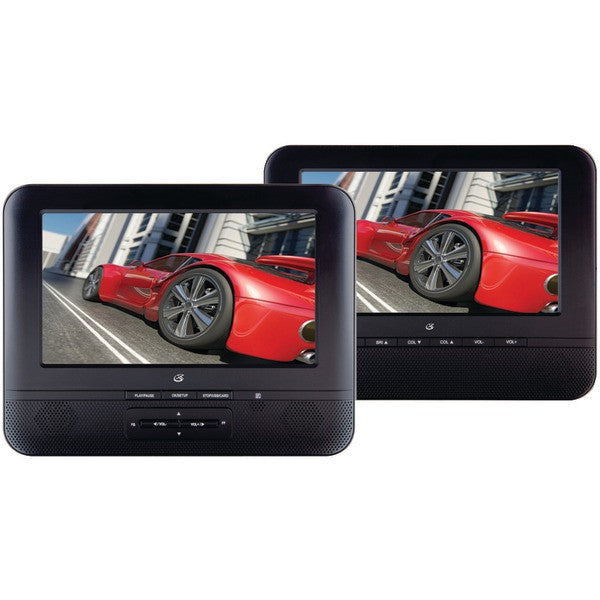 "GPX PD7711B 7"" Portable Twin-Screen DVD Player"