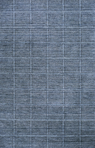 Momeni GRAMEGM-01DNM7696 INDIAN HAND LOOMED Gramercy Collection Denim Finish Rugs