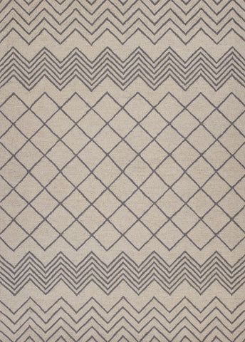 "KAS Rugs Gramercy 1600 Ivory Elements Hand-Tufted 100% Wool 27"" X 45"""