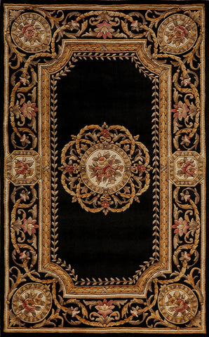 Momeni HARMOHA-12BLK2030 Chinese Hand Tufted Harmony Collection Black Finish Rugs