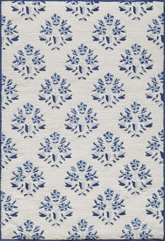 Momeni HAVANHV-09BLU7999 Chinese Hand Tufted Havana Collection Blue Finish Rugs
