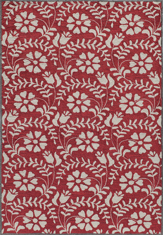 Momeni HAVANHV-10RED7999 Chinese Hand Tufted Havana Collection Red Finish Rugs