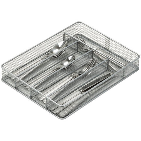 honey can do KCH-02154 5-Compartment Steel Mesh Cutlery Tray - Peazz.com
