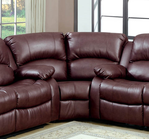 Homelegance 9700BRW-C Cranley Collection Color Brown Bonded Leather Match