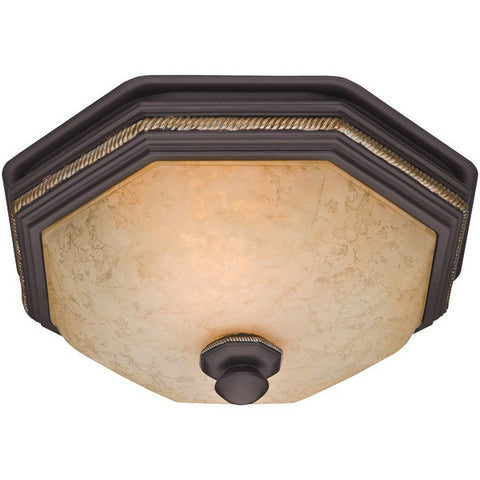 Hunter Fan Company 82023 Belle Meade 80cfm Ceiling-Exhaust Bath Fan with Snowflake Glass - Peazz.com