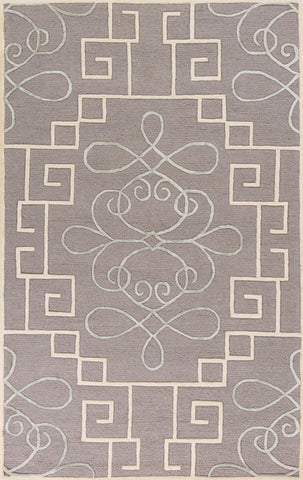 "KAS Rugs Impressions 4614 Grey Windsor Hand-Tufted Wool & Viscose Textured Pile 2'3"" x 7'6"" Runner"