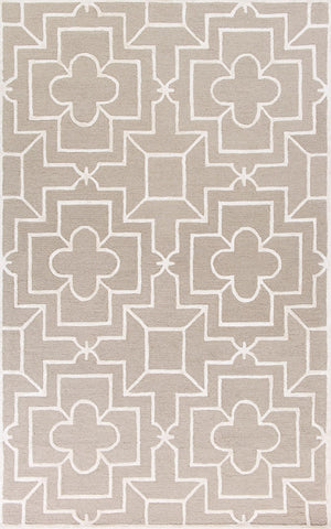 "KAS Rugs Impressions 4616 Beige Timeless Hand-Tufted Wool & Viscose Textured Pile 2'3"" x 7'6"" Runner"