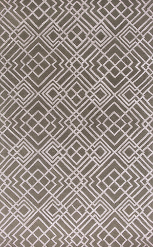 "KAS Rugs Impressions 4617 Pewter Sterling Hand-Tufted Wool & Viscose Textured Pile 27"" x 45"""