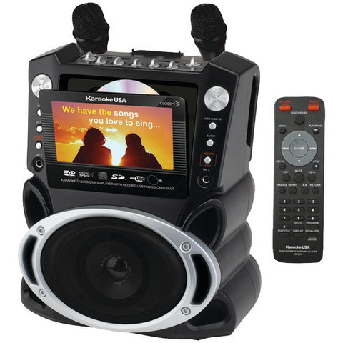 "Karaoke USA GF829 DVD/CD+G/MP3+G Karaoke System with 7"" TFT Color Screen - Peazz.com"