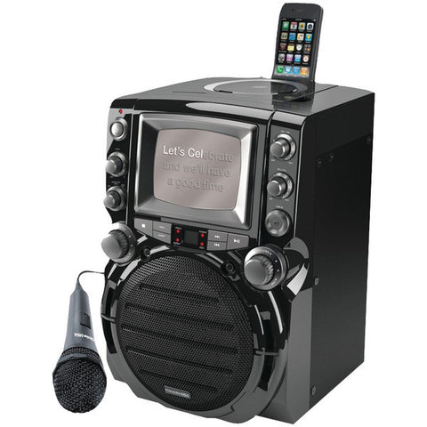 "Karaoke USA GQ752 CD+G Karaoke System with 5"" Monitor - Peazz.com"