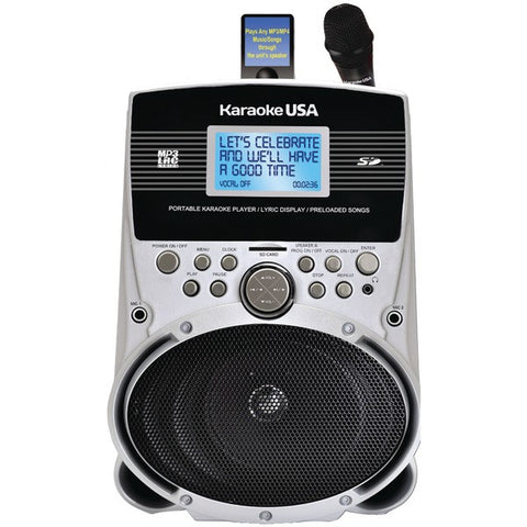 "Karaoke USA SD516 Portable Karaoke MP3 Lyric Player with 3.2"" Screen & 100 Songs - Peazz.com"