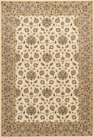 "KAS Rugs Kingston 6407 Ivory/Beige Mahal Machine-Made 100% Polypropelene 2'2"" x 3'3"""