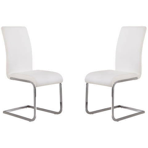 Armen Living LCAMSIWH Amanda White Side Chair - Set of 2