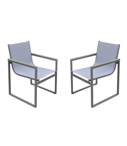 Armen Living LCBICHGR Bistro Outdoor Patio Dining Chair - Set of 2