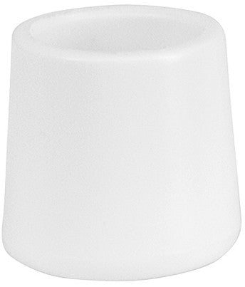 Flash Furniture LE-L-3-WHITE-CAPS-GG White Replacement Foot Cap for Plastic Folding Chairs - Peazz.com
