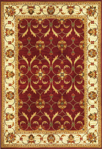 "KAS Rugs Lifestyles 5468 Red/Ivory Agra Machine-Made 100% Heat-set Polypropelene 23"" x 35"""