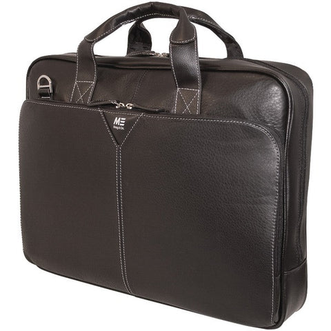 "Mobile Edge MEBCL1 16"" Deluxe Leather Notebook Briefcase - Peazz.com"