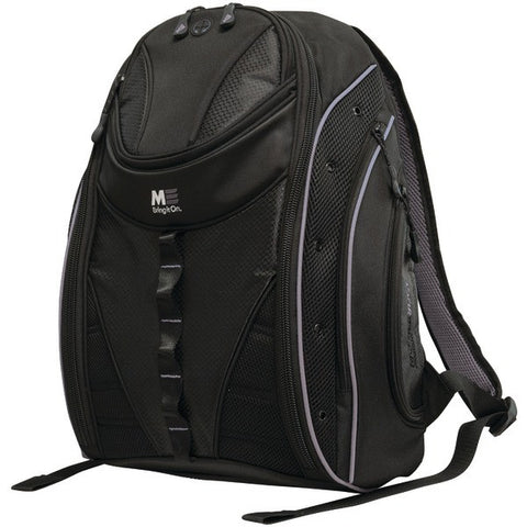 "Mobile Edge MEBPE22 16"" PC/17"" MacBook Express 2.0 Backpack, Black/Silver - Peazz.com"