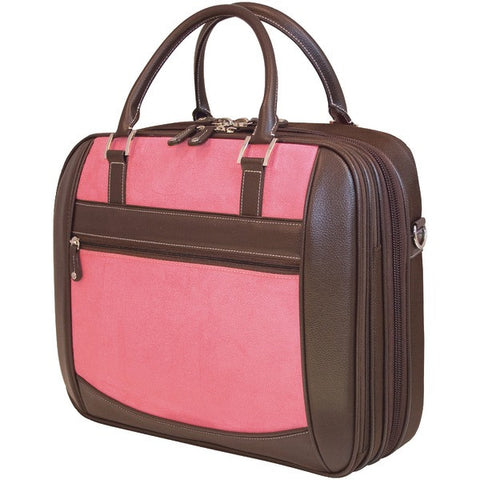 "Mobile Edge MESFEBX 16"" PC/17"" MacBook ScanFast Element Briefcase (Pink Suede) - Peazz.com"