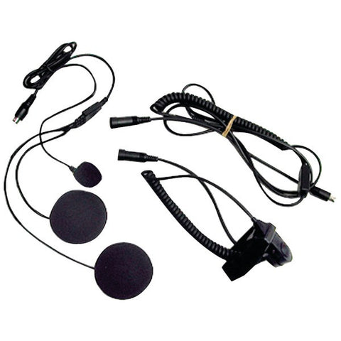 Midland AVPH2 2-Way Radio Accessory (Closed-Face Helmet Headset Speaker/Microphone) - Peazz.com