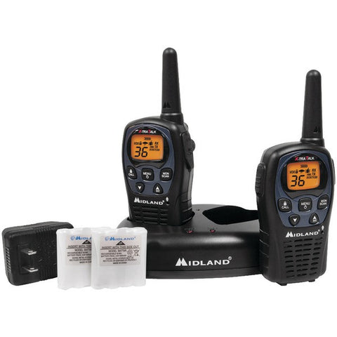 Midland LXT560VP3 26-Mile GMRS Radio Pair Pack with Drop-in Charger & Rechargeable Batteries - Peazz.com