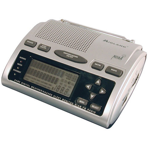 Midland WR-300 Deluxe SAME Weather Alert/All-Hazard Radio with AM/FM Radio - Peazz.com