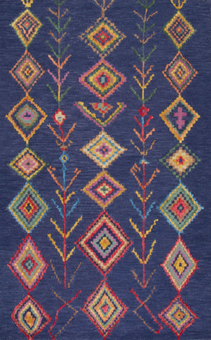 Nuloom MJSM18B-508 San Miguel Collection Blue Finish Hand Tufted Belini Area Rug - Peazz.com