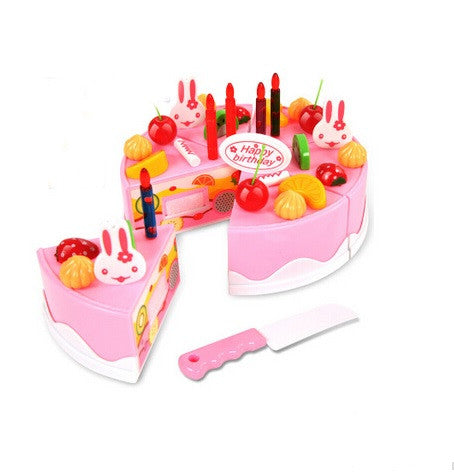Merske MK10078 DIY Pretend Play Birthday Cake - Pink - Peazz.com - 1