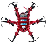Merske MK10079 One-Key-Return R/C Drone 2.4G 4Ch 6Axis Nano Hexacopter Quadcopter 3D Rollover Headless - Red - Peazz.com - 4