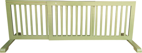 MDOG2 MK814-721WDBN Free Standing Step Over Gate - Woodbine - Peazz.com - 1