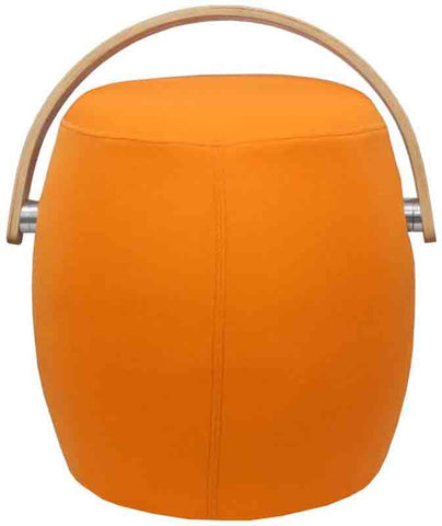 Mod Made MM-SW10001-Orange Bucket Stool Chair with Handle