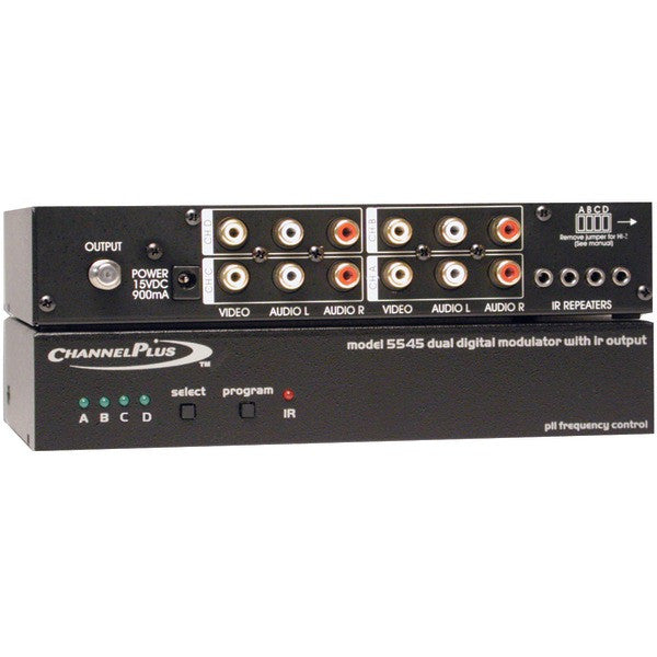 Channelplus 5545 Deluxe Series Modulator With Ir Emitter Ports (quad-source)