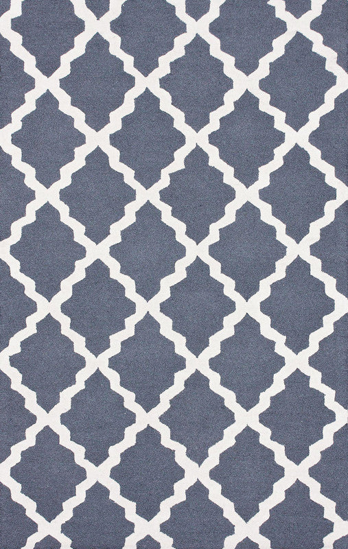 Varanas Collection Blue Grey Hand Hooked Marrakech Trellis 3903 Product Photo