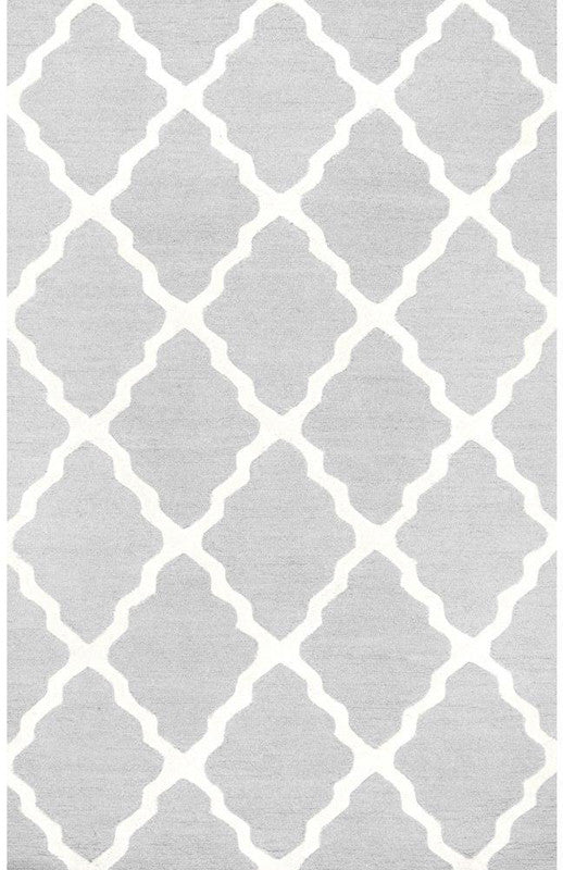 Varanas Collection Light Grey Hand Hooked Marrakech Trellis 3903 Product Photo