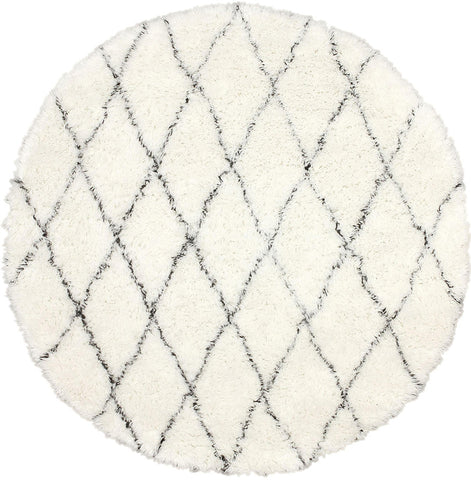 Nuloom MTVS28A-606R Urbanized Collection Ivory Finish Hand Made Marrakech Shag - Peazz.com