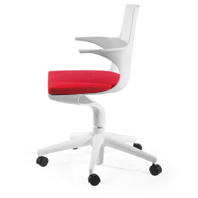 Mod Made MM-PC-077-WHITE+RED Jaden Chair