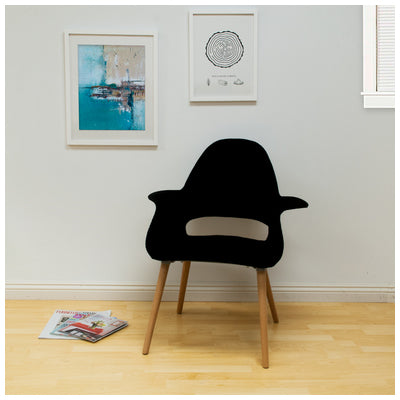 Mod Made MM-PC-150KS-BLACK Morza Chair 2-Pack