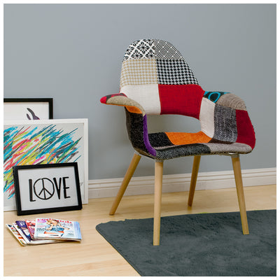 Mod Made MM-PC-150KS-PATCHWORK Morza Chair 2-Pack