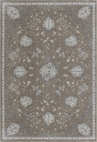 "KAS Rugs Montecarlo IV 5107 Champagne Floral Bouquets Machine-Made 100% Viscose (Faux Silk) 2'2"" x 7'10"" Runner"