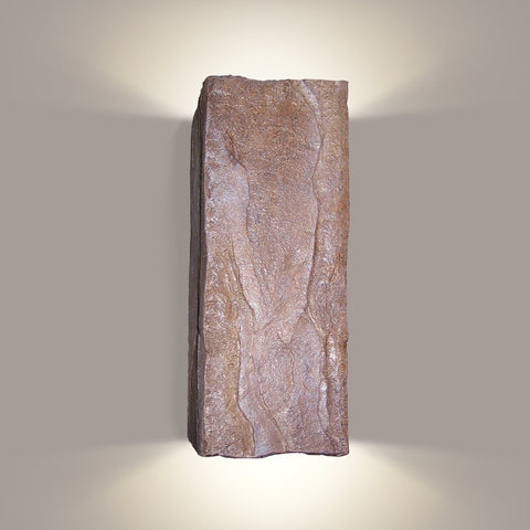 A19 N18031-BR-WETST-LEDGU24 Nature Collection Stone Brown Finish