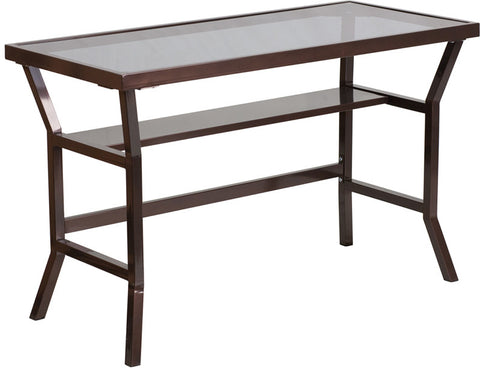 Flash Furniture NAN-YLCD1237-GG Contemporary Desk with Dark Gray Tempered Glass - Peazz.com - 1