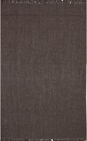 Nuloom NCCL01C-508 Natura Collection Chocolate Finish Machine Woven Chunky Loop Jute - Peazz.com