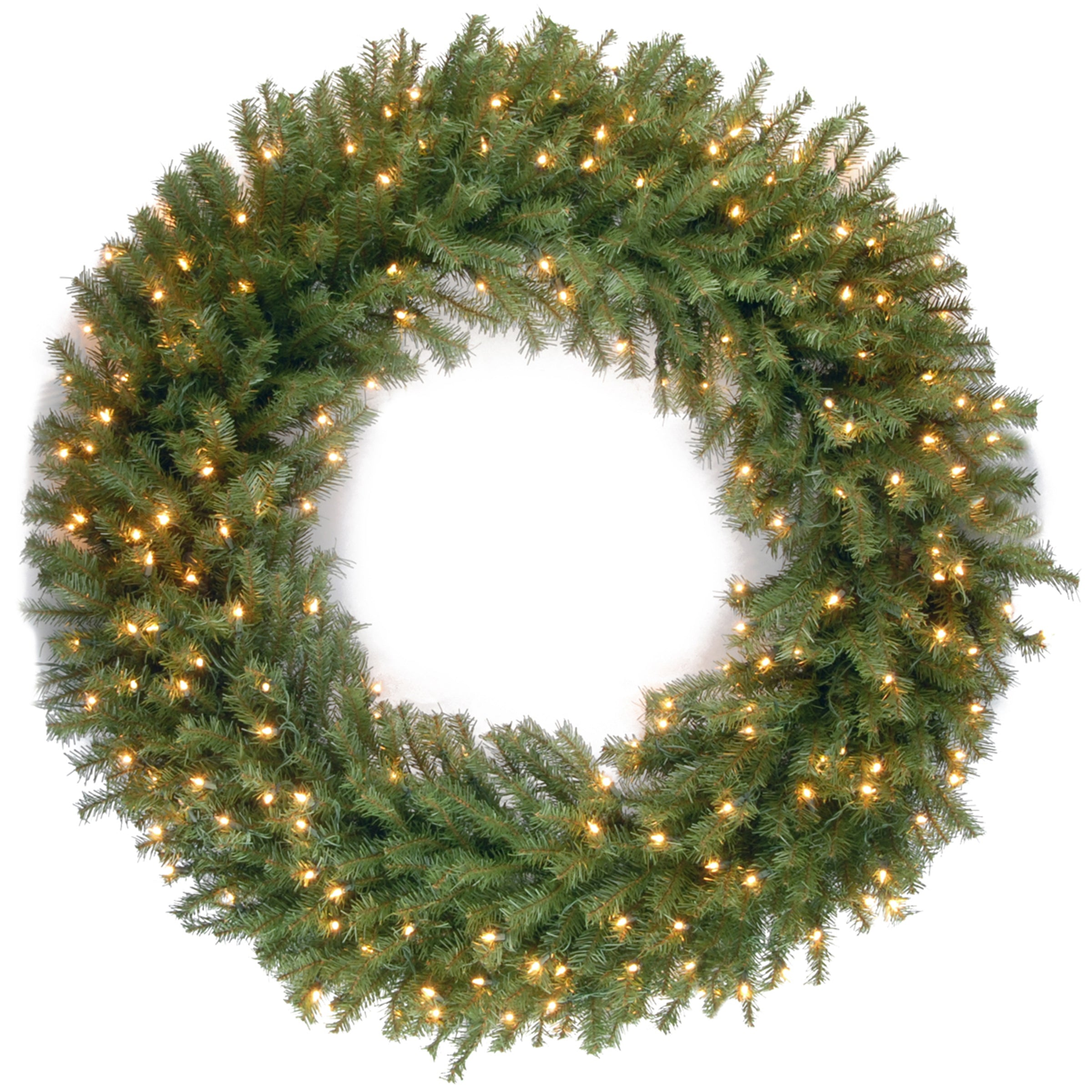 """National Tree NF-318L-48W 48"""" Norwood Fir Wreath with 300 Warm White LED Lights"""