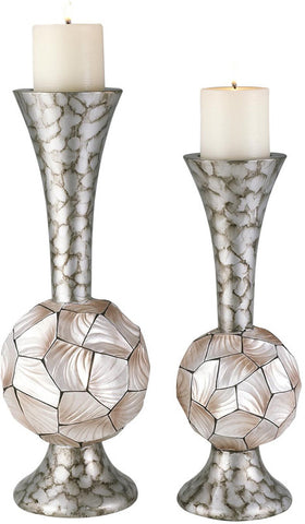 Ok Lighting OK-4229C Conch Shell Candleholder Set - Peazz.com