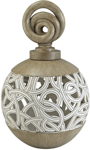 Ok Lighting OK-4241-V1 Carved Strings Decorative Vase - Peazz.com