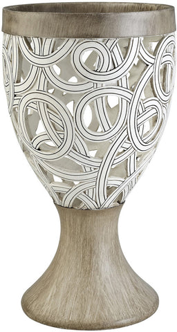 Ok Lighting OK-4241-V2 Carved Strings Decorative Vase - Peazz.com