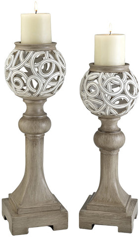 Ok Lighting OK-4241C Carved Strings Candleholder Set - Peazz.com